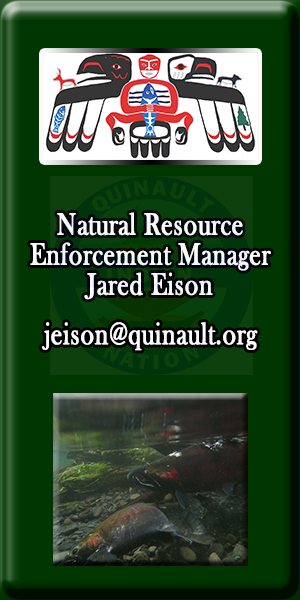 Quinault Division of Natural Resource Enforcement Manager Jared Eison
